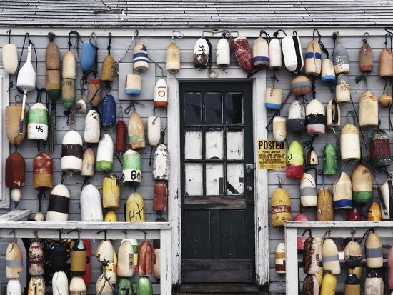 USA, Connecticut, Niantic, Fishing Shack-Walter Bibikow-Photographic Print