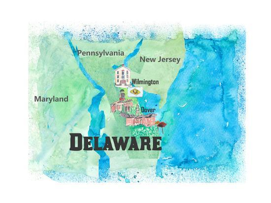 USA Delaware Travel Poster Map With Highlights And Favorites Art Print on delaware by counties, delaware on map, delaware agricultural map, delaware golf courses map, delaware map cities, delaware demographics, state of delaware usa, delaware ny, delaware product map, attractions in philadelphia pa usa, delaware river, delaware time, delaware real estate, delaware guide, delaware map by zip code, delaware colonial history, delaware flag, delaware mine michigan, delaware shore map,