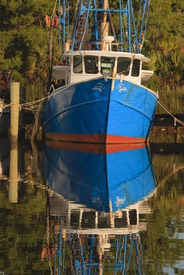 USA, Florida, Apalachicola, Shrimp Boat Docked at Apalachicola-Joanne Wells-Photographic Print