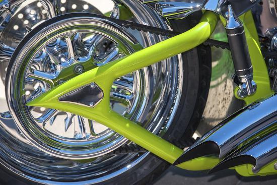 USA, Florida, Daytona Beach, customized bike, bike week.-Jim Engelbrecht-Photographic Print