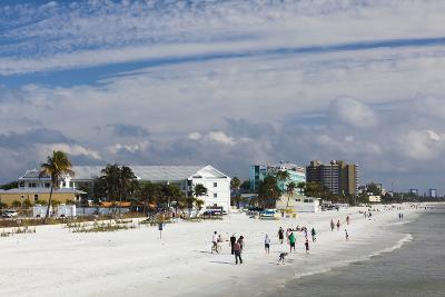 USA, Florida, Gulf Coast, Fort Myers Beach, Elevated Beach View-Walter Bibikow-Photographic Print