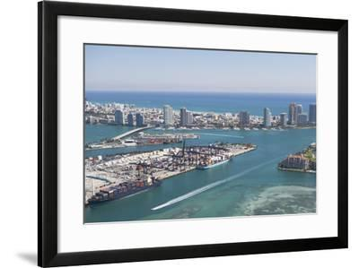 Usa, Florida, Miami, Cityscape with Coastline-Fotog-Framed Photographic Print