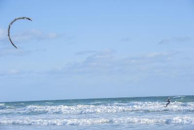 USA, Florida, New Smyrna Beach, kite surfer.-Lisa S^ Engelbrecht-Photographic Print