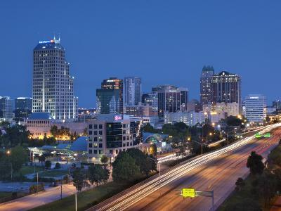 Usa, Florida, Orlando, Downtown Skyline and Interstate 4-John Coletti-Photographic Print