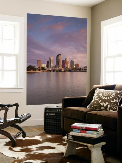 USA, Florida, Tampa, Skyline from Hillsborough Bay-Walter Bibikow-Wall Mural