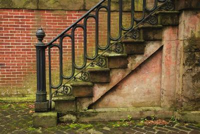 USA, Georgia, Savannah, Steps in the Historic District-Joanne Wells-Photographic Print