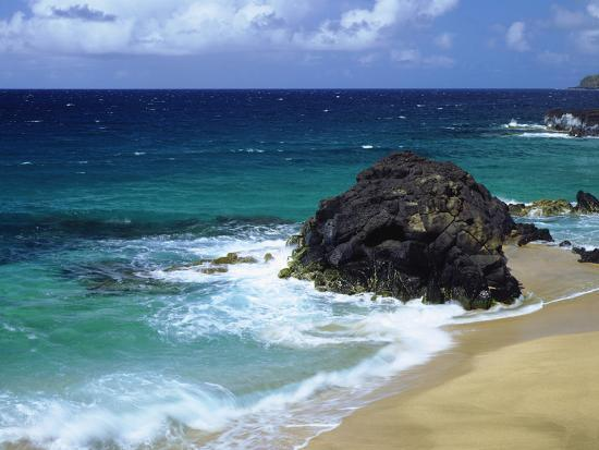USA, Hawaii, a Wave Breaks on a Beach-Jaynes Gallery-Photographic Print