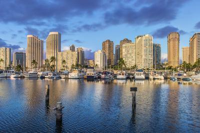 USA, Hawaii, Oahu, Honolulu, Ala Moana Marina-Rob Tilley-Photographic Print