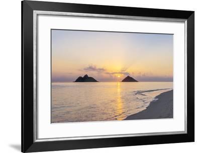 USA, Hawaii, Oahu, Lanikai Beach Sunrise-Rob Tilley-Framed Photographic Print