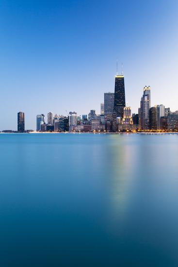 Usa, Illinois, Chicago. the City Skyline from North Avenue Beach.-Nick Ledger-Photographic Print