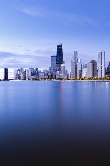 Usa, Illinois, Chicago, the Hancock Tower and Downtown Skyline from Lake Michigan-Gavin Hellier-Photographic Print