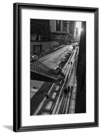 Usa,Illinois, Midwest, Cook County, Chicago,Magnificent Mile,-Christian Heeb-Framed Photographic Print
