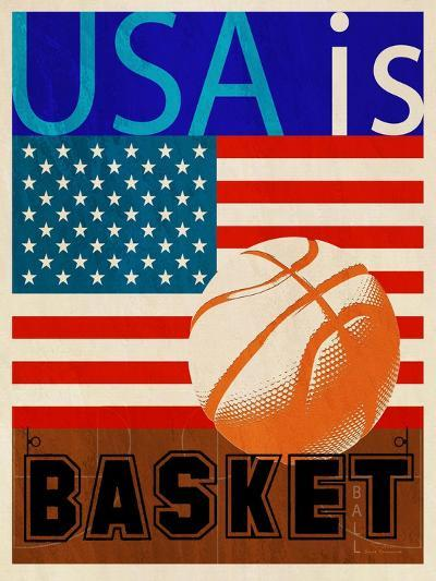 USA Is Basketball-Joost Hogervorst-Art Print