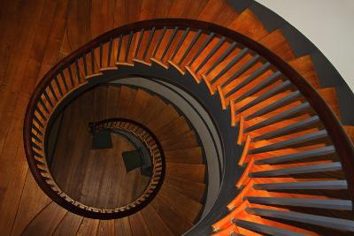 USA, Kentucky, Pleasant Hill, Spiral Staircase at the Shaker Village-Joanne Wells-Photographic Print
