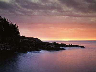 USA, Maine, Acadia National Park, Sunrise over the Atlantic Ocean-Christopher Talbot Frank-Photographic Print