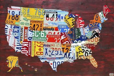 USA Map Edition 15-Design Turnpike-Giclee Print