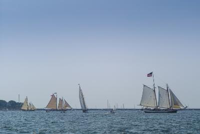 USA, Massachusetts, Cape Ann, Gloucester, America's Oldest Seaport, Annual Schooner Festival-Walter Bibikow-Photographic Print