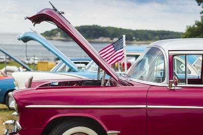 USA, Massachusetts, Cape Ann, Gloucester, Antique Car Show, Car Detail-Walter Bibikow-Photographic Print