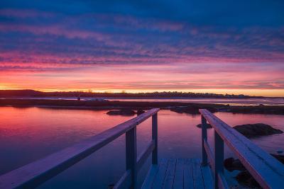 USA, Massachusetts, Cape Ann, Gloucester, Sunset on the Annisquam River-Walter Bibikow-Photographic Print
