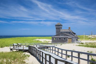 USA, Massachusetts, Cape Cod, Provincetown, Race Point Beach, Old Harbor Life-Saving Station-Walter Bibikow-Photographic Print