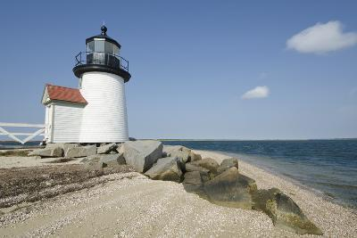 Usa, Massachusetts, Nantucket Island, View of Brant Point Lighthouse-Chris Hackett-Photographic Print