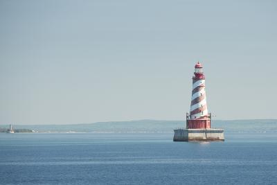 USA, Michigan, Great Lakes, Lake Michigan, White Shoal Lighthouse.-Cindy Miller Hopkins-Photographic Print
