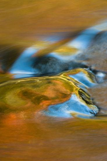 USA, Michigan, Upper Peninsula. Bond Falls Reflections in Fall-Jaynes Gallery-Photographic Print