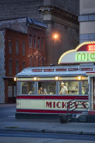 Usa,Midwest, Minnesota, St.Paul, Mickey's Diner-Christian Heeb-Photographic Print