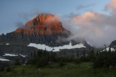 USA, Montana, Glacier National Park. Sunrise on Reynolds Mountain-Don Grall-Photographic Print