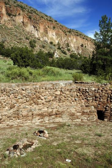 USA, Near Los Alamos, New Mexico, Bandelier National Monument, Big Kiva--Giclee Print
