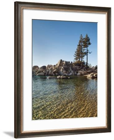 USA, Nevada, Lake Tahoe, Transparent Ripples on the Water at Sand Harbor State Park-Ann Collins-Framed Photographic Print