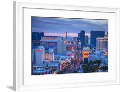 Usa, Nevada, Las Vegas, the Strip-Alan Copson-Framed Photographic Print