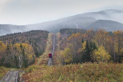 USA, New Hampshire, White Mountains, Bretton Woods, Mount Washington Cog Railway-Walter Bibikow-Photographic Print
