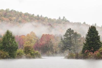 USA, New Hampshire, White Mountains, Fog drifting around Coffin Pond-Ann Collins-Photographic Print
