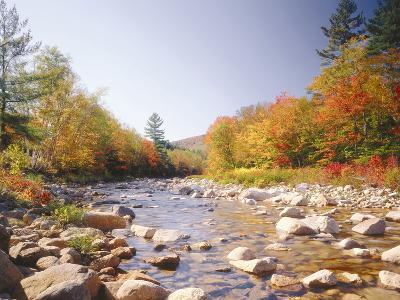 USA, New Hampshire, White Mountains, Swift River, Landscape, Autumn-Thonig-Photographic Print