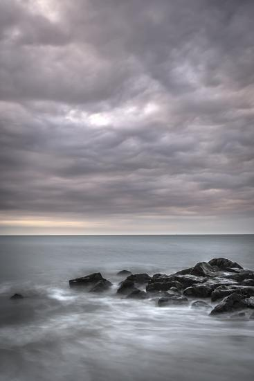 USA, New Jersey, Cape May National Seashore. Sunrise on stormy beach.-Jaynes Gallery-Photographic Print