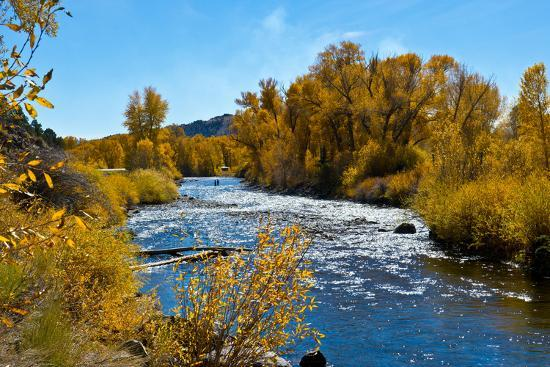 USA, New Mexico, Fall along Rio Chama River.-Bernard Friel-Premium Photographic Print