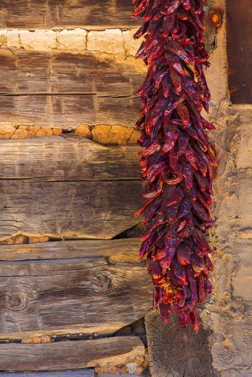 USA, New Mexico, Pinos Altos. Ristas Hung to Dry-Don Paulson-Photographic Print