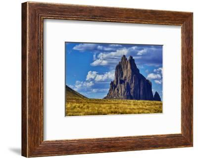 USA, New Mexico. Shiprock formation on Navajo Indian Reservation.-Jaynes Gallery-Framed Photographic Print