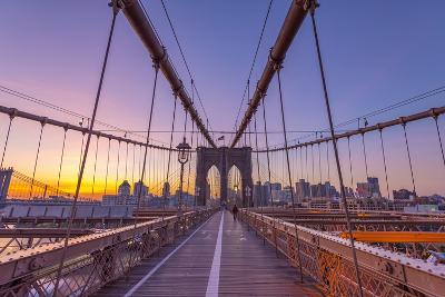 Usa, New York, Brooklyn Bridge-Alan Copson-Photographic Print