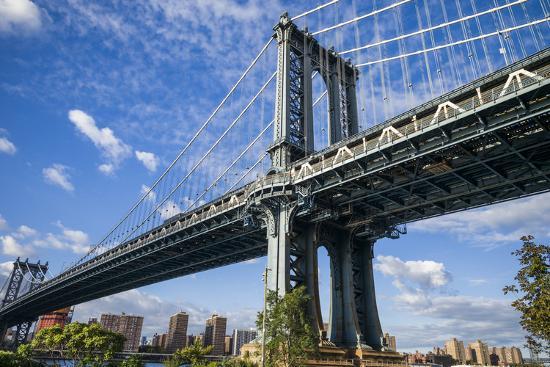 USA, New York, Brooklyn, Dumbo. Manhattan Bridge-Walter Bibikow-Photographic Print