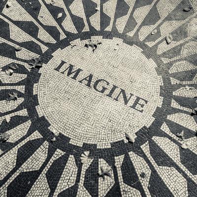 USA, New York, City, Central Park, John Lennon Memorial, Imagine-Walter Bibikow-Photographic Print