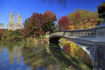Usa, New York City, Manhattan, Central Park, Bow Bridge-Michele Falzone-Photographic Print