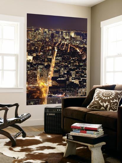 USA, New York City, Manhattan, Elevated View of Mid-Town Manhattan-Gavin Hellier-Wall Mural