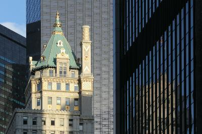 USA, New York City, Manhattan, Skyscraper, Glass Front, Reflection Plaza Hotel-Catharina Lux-Photographic Print