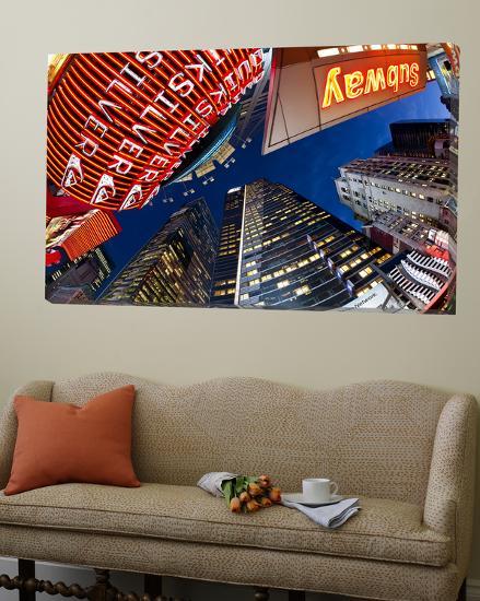 USA, New York City, Manhattan, Times Square, Neon Lights of 42nd Street-Gavin Hellier-Loft Art