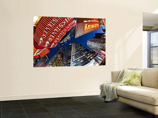 USA, New York City, Manhattan, Times Square, Neon Lights of 42nd Street-Gavin Hellier-Wall Mural