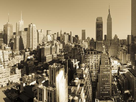 USA, New York, Manhattan, Midtown Skyline Including Empire State Building-Alan Copson-Photographic Print