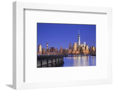 Usa, New York, New York City, Lower Manhattan Skyline from Newport Beach-Michele Falzone-Framed Photographic Print