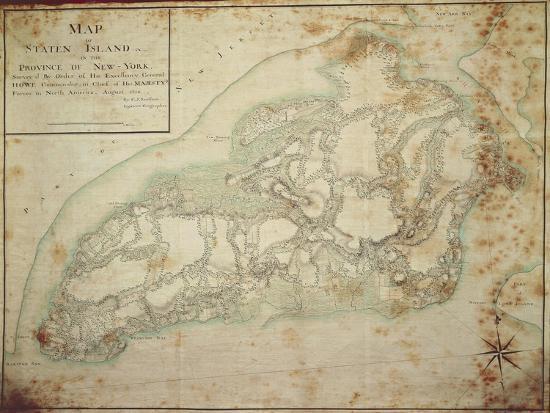 Map Of Usa 1776.Usa New York New York City Staten Island American War Of